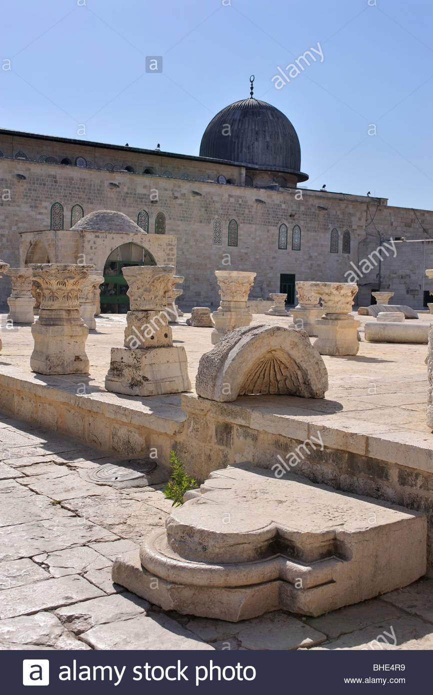 al-aqsa mosque, Temple Mount, the noble sanctuary, Jerusalem, Israel - Stock Image