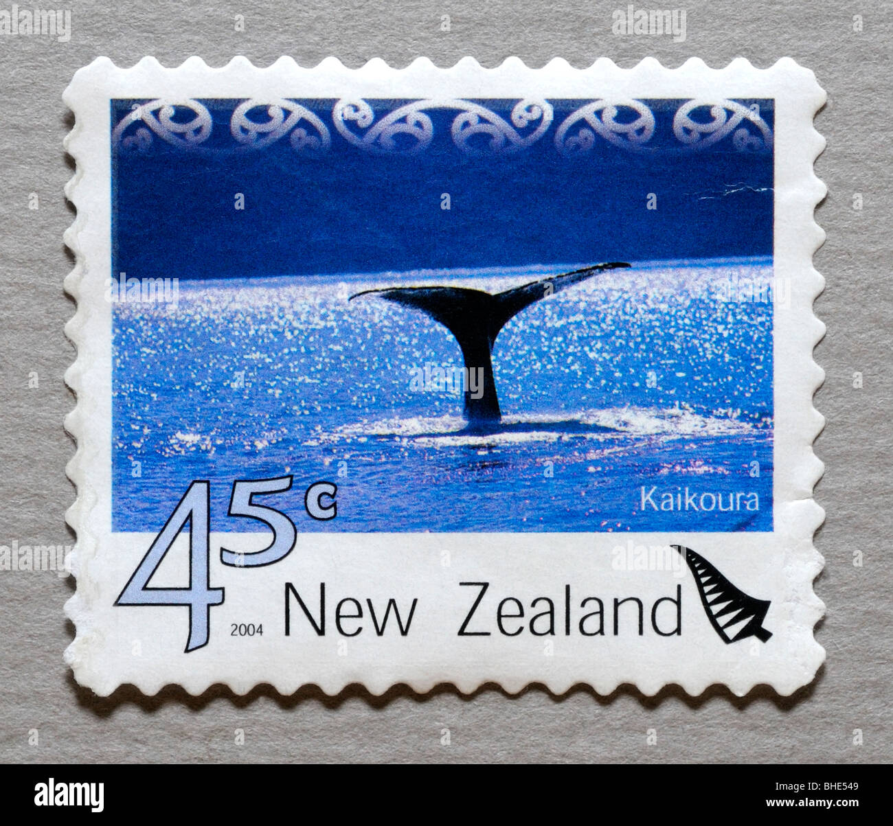 New Zealand Postage Stamp - Stock Image
