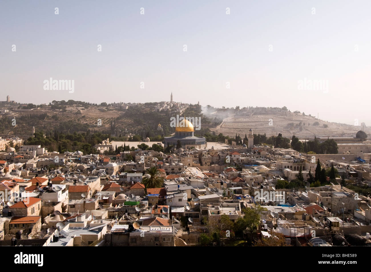 Dome of the Rock. Muslim holy site located on the Temple Mount in the Old City of Jerusalem, Israel Stock Photo