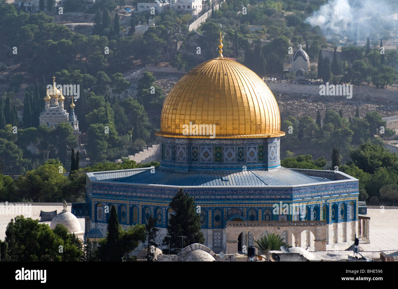 Dome of the Rock. Muslim holy site located on the Temple Mount in the Old City of Jerusalem, Israel - Stock Image