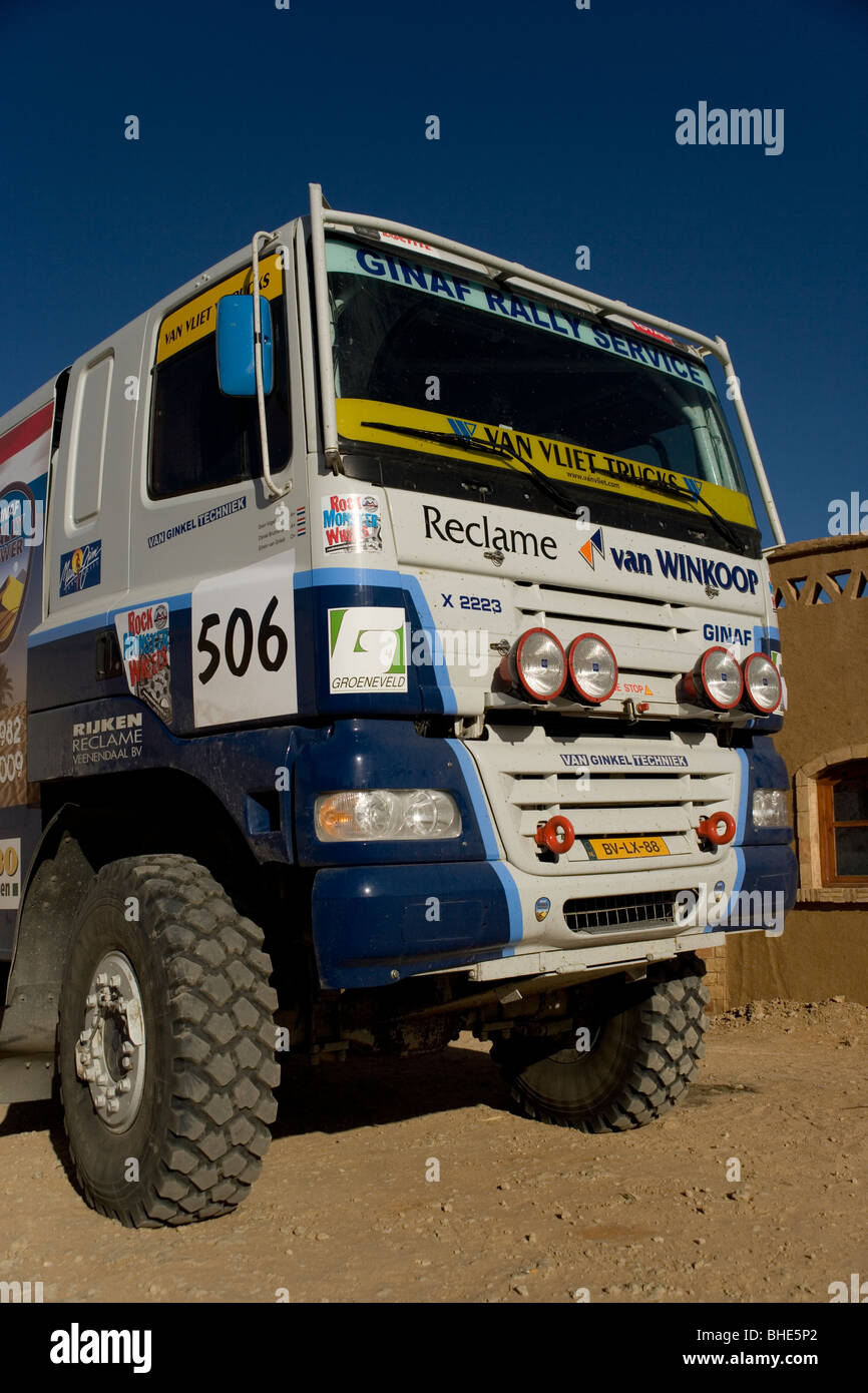 Desert racing truck at the Yasmina Hotel training for the Dakar ...