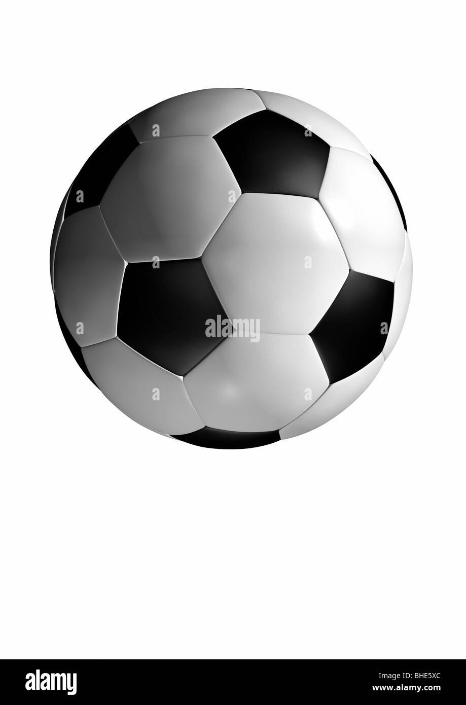Soccer Ball - Fußball - Stock Image