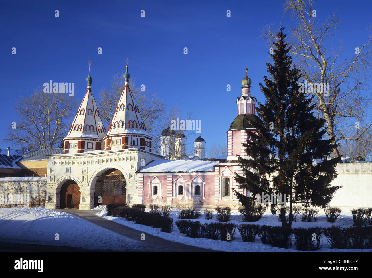 Suzdal town View in winter, near Vladimir, Russia - Stock Image