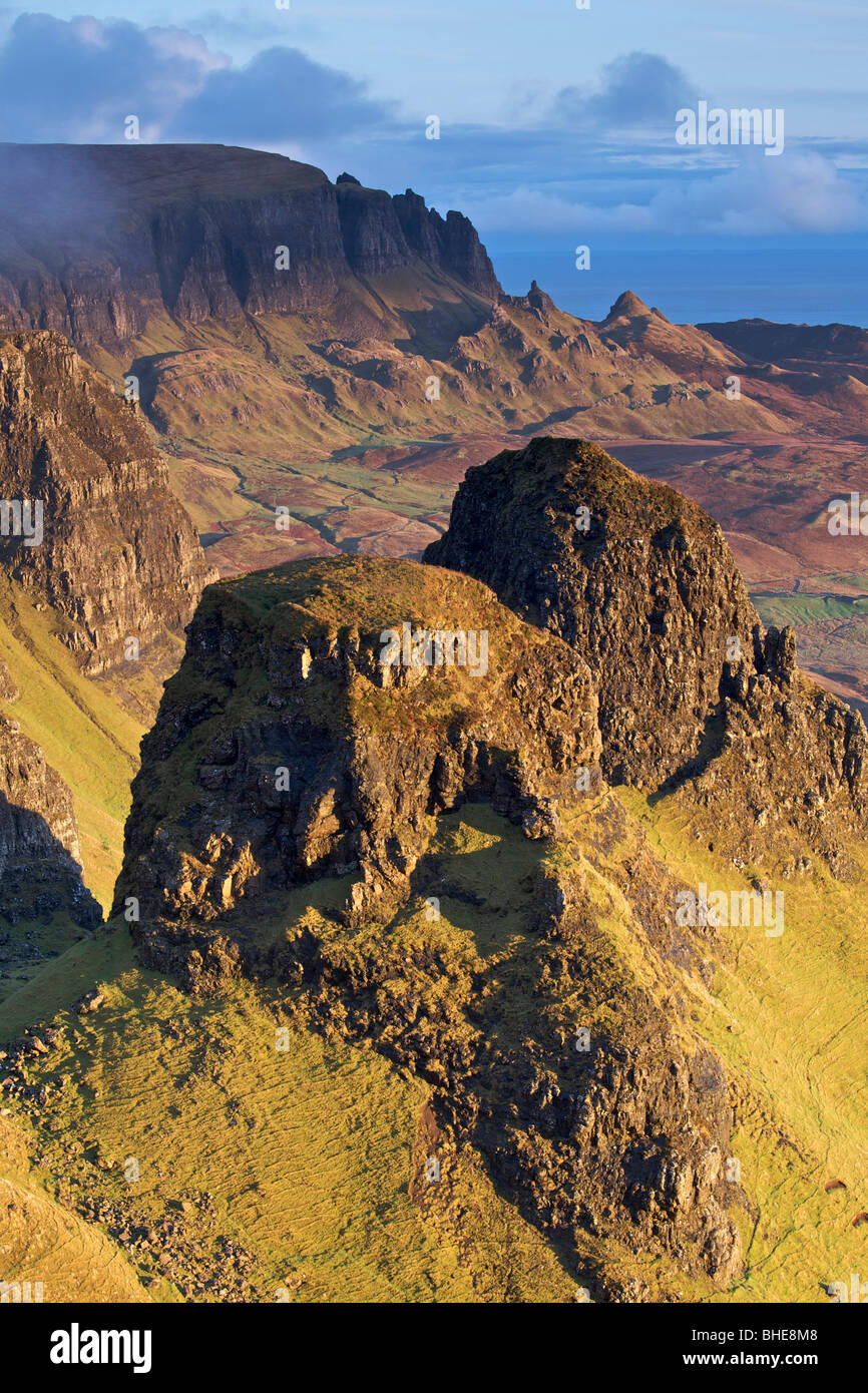 Sunrise over the Quiraing, Isle of Skye, Scotland - Stock Image