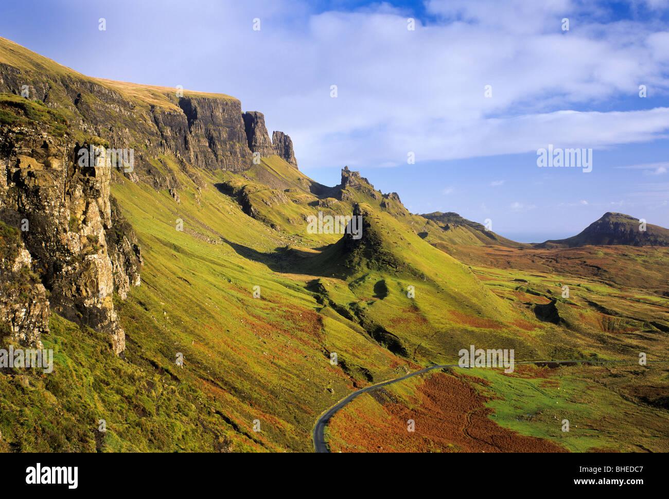 The Quiraing, Isle of Skye, Highland, Scotland, UK - Stock Image