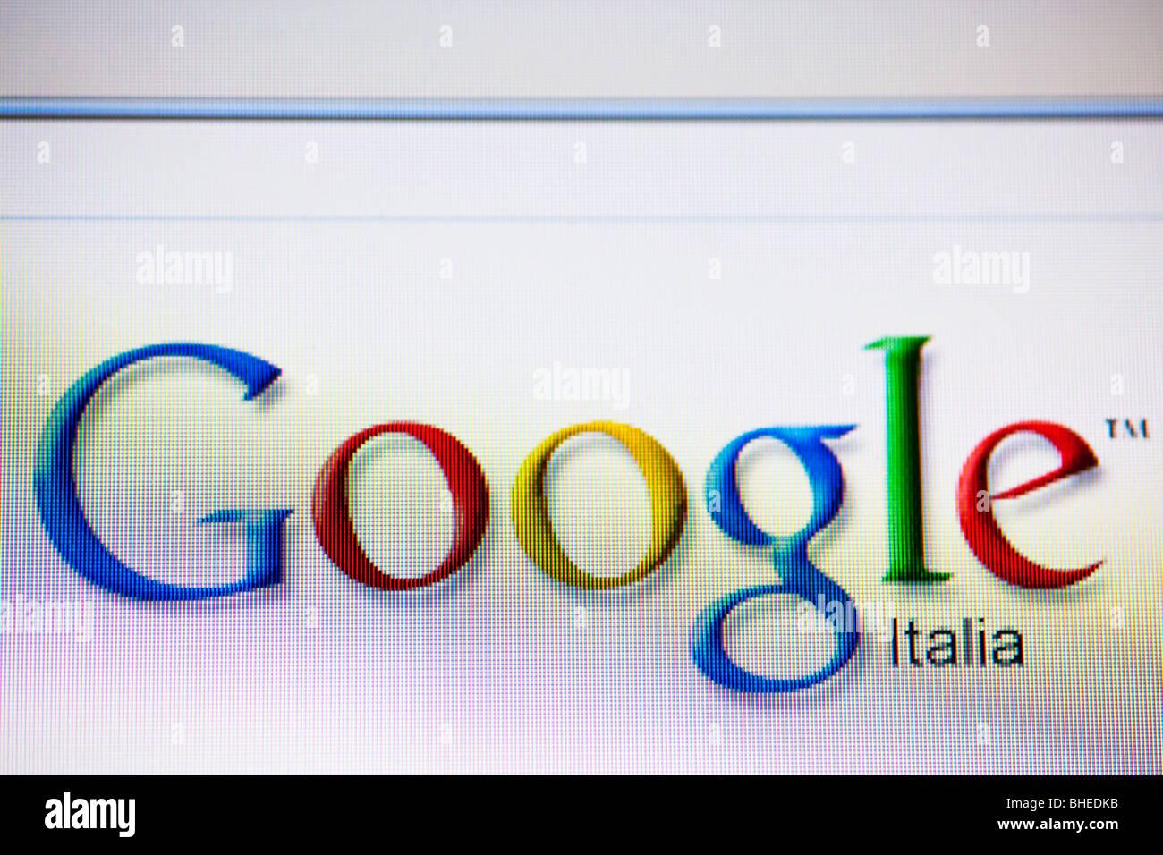 Google brand screenshot computer online - Stock Image