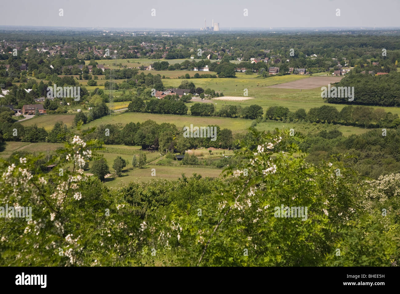 view from Halde Haniel, Bottrop, Germany - Stock Image
