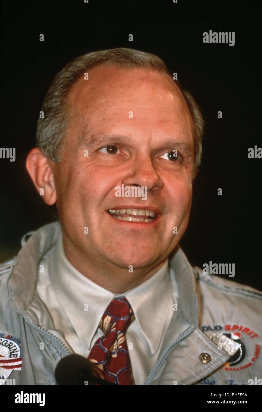 Adventurer Steve Fossett at the National Geographic Society headquarters January 27, 1997 in Washington, DC. - Stock Image