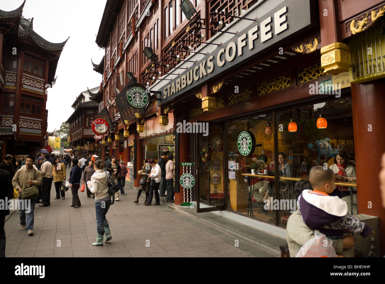 Starbucks Coffee At Yu Garden Bazaar In Shanghai China Asia