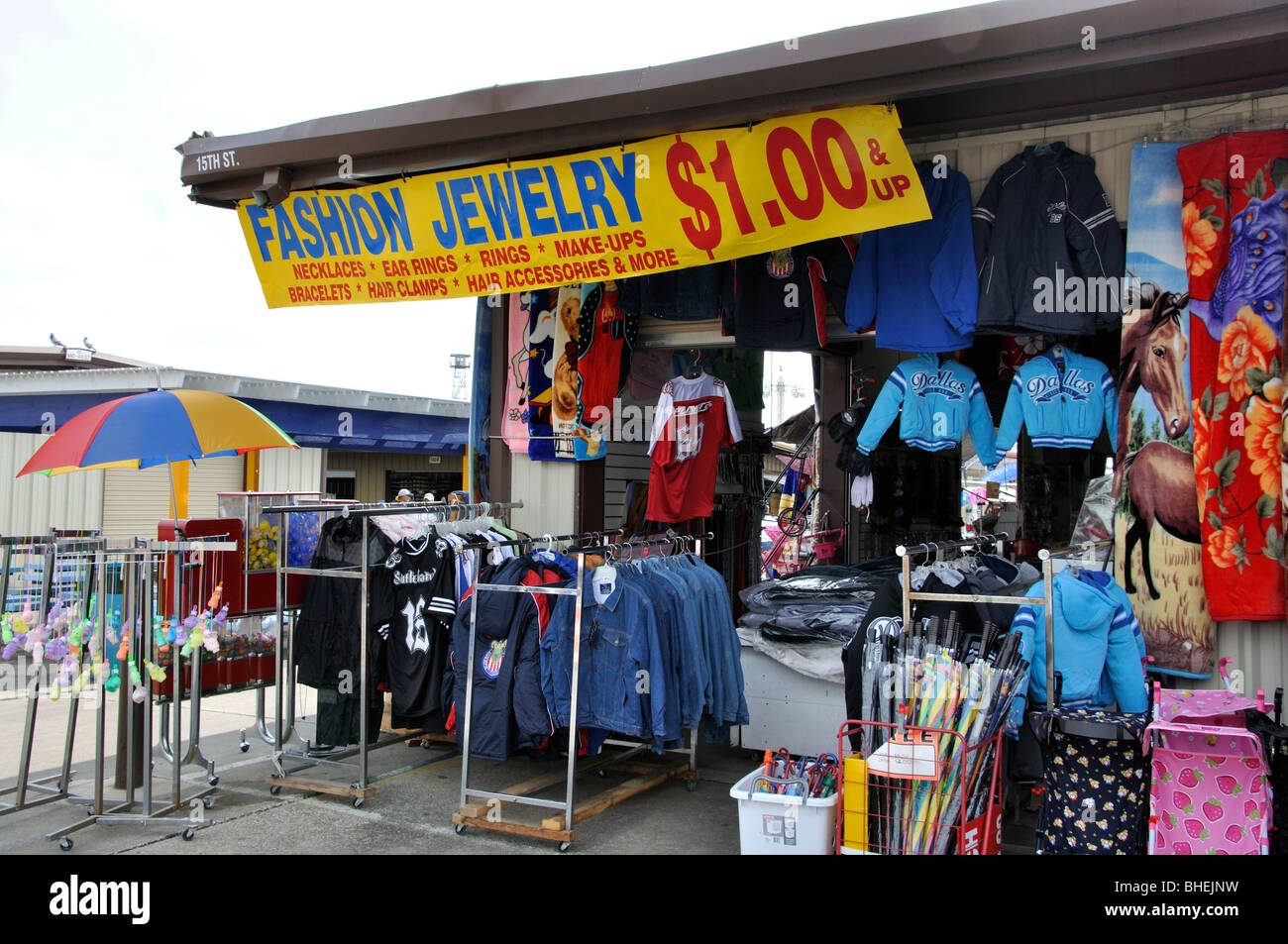Cheap clothes on sale at Traders Village - biggest flea market in ...