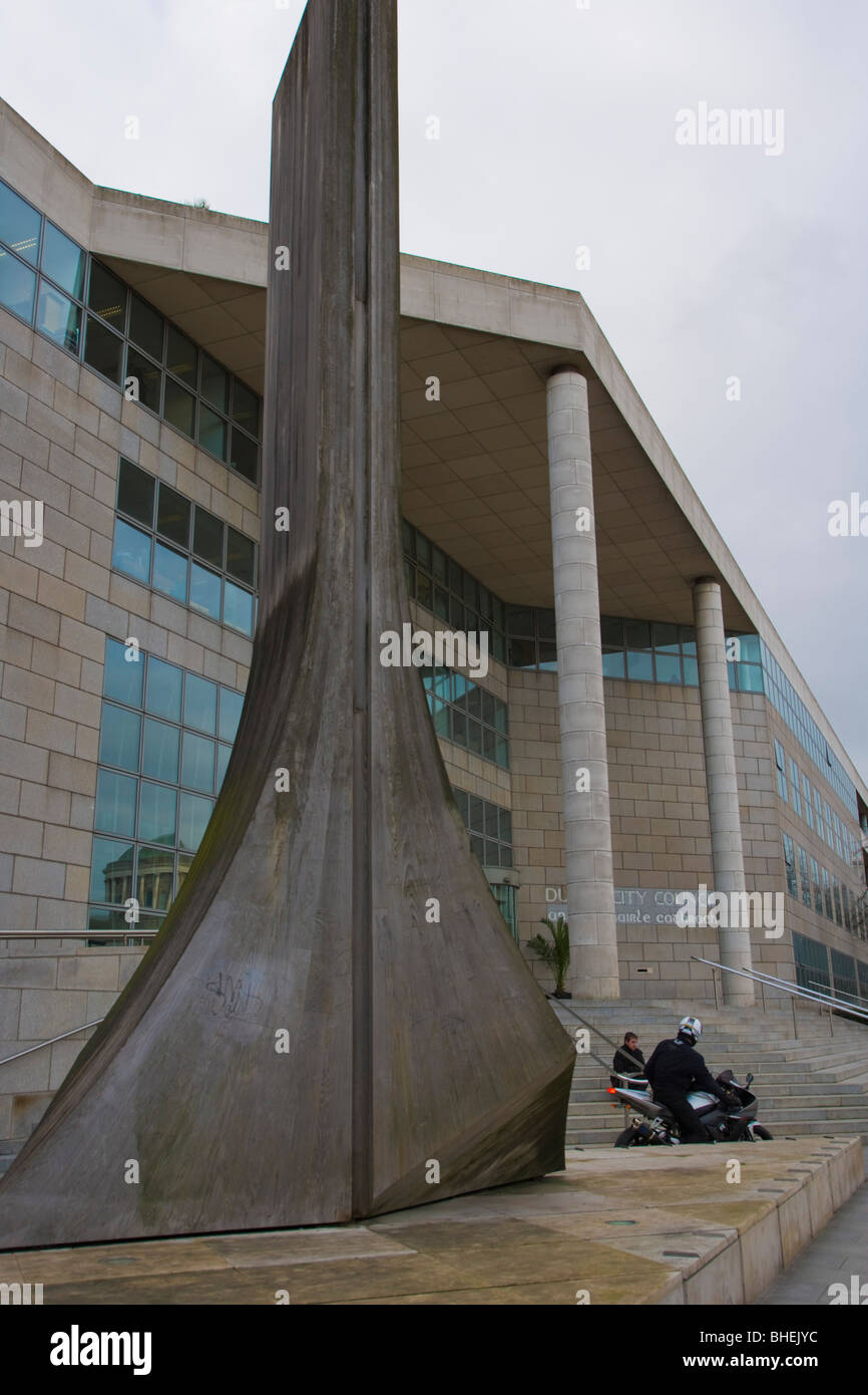 The Civic Offices of Dublin City Council. Wood Quay. Ireland. - Stock Image
