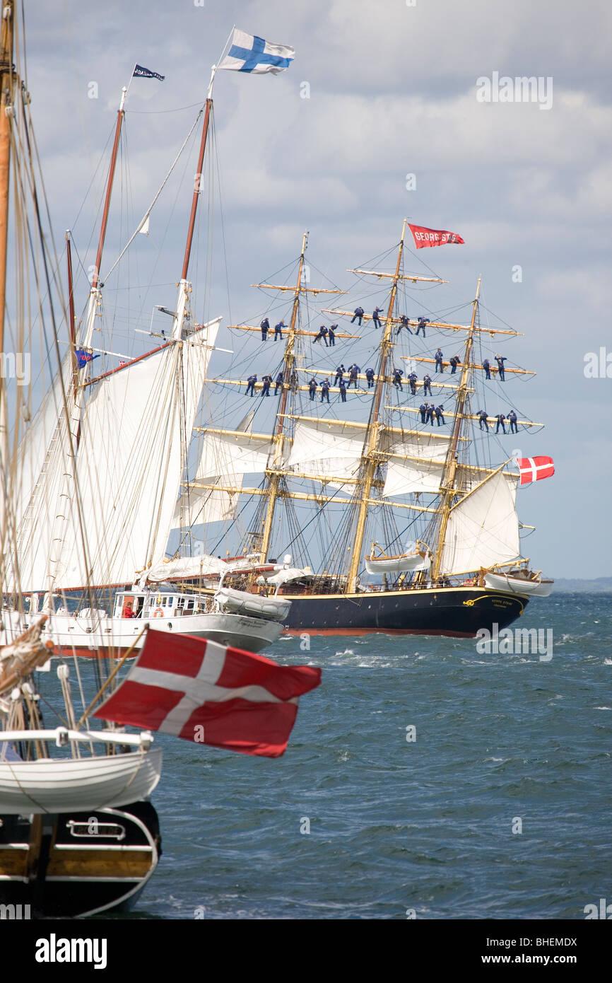 Tall Ships' Races, Aarhus 2007. Race Start. - Stock Image