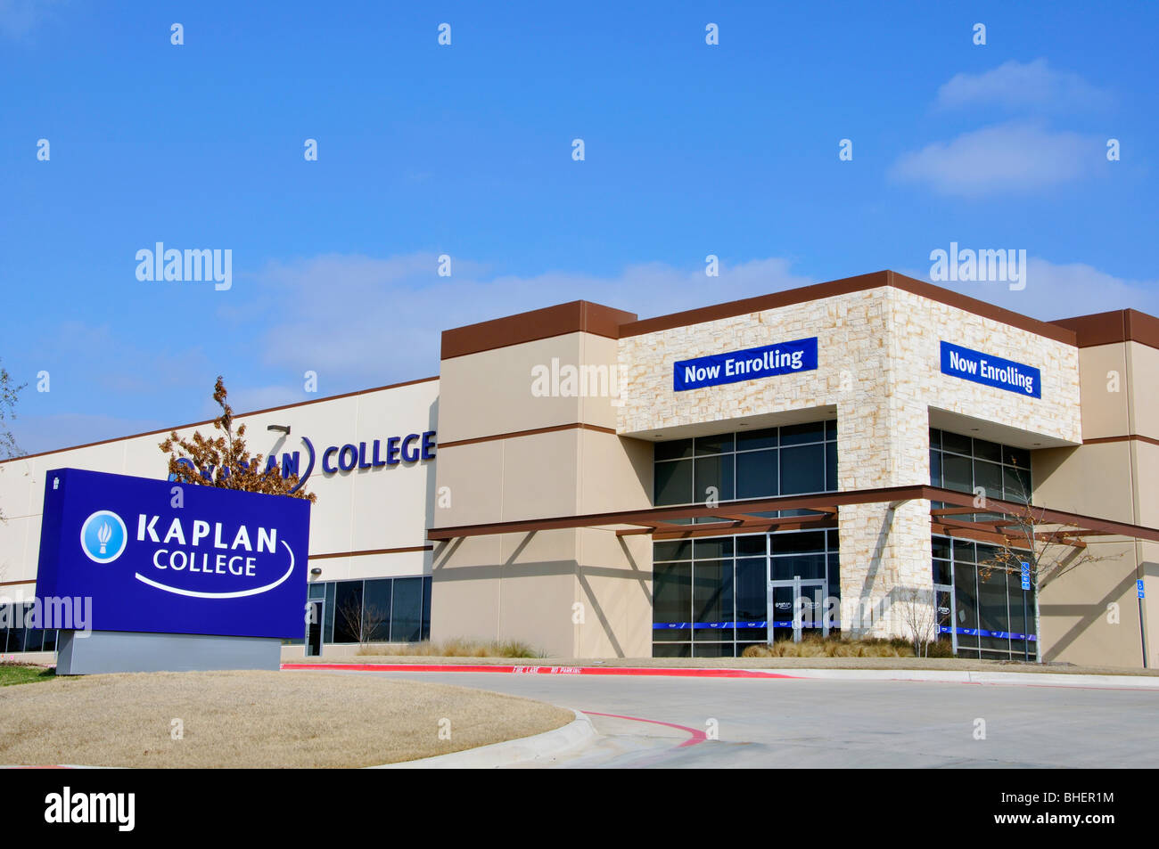 Kaplan College, Texas, USA - Stock Image