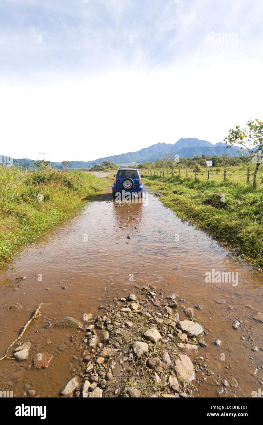 Motoring in Panama Chiriqui Province Stock Photo