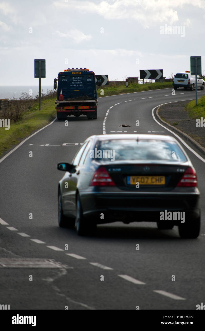 A9 single carriageway trunk road - Stock Image