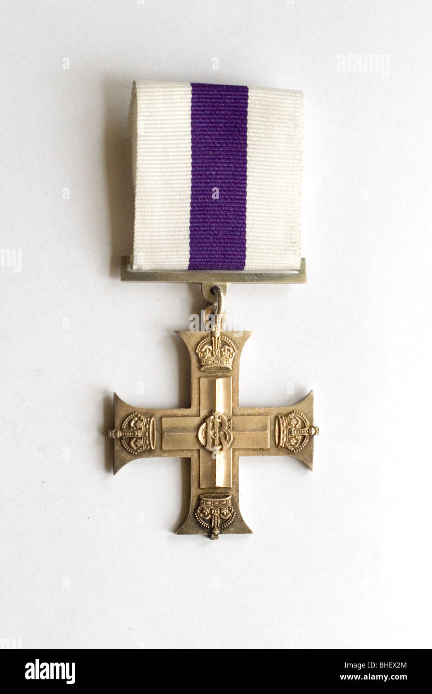 Military Cross awarded to an Australian officer who served with distinction in France in the First World War - Stock Image