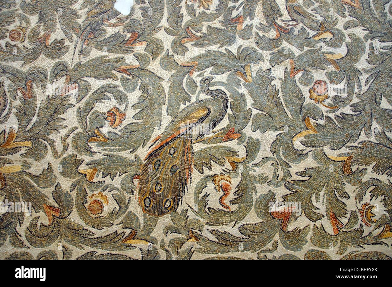 Mosaic de Frigidarium, The Bardo National Museum, Le Bardo District, Tunis, Tunis Governorate, Tunisia Stock Photo