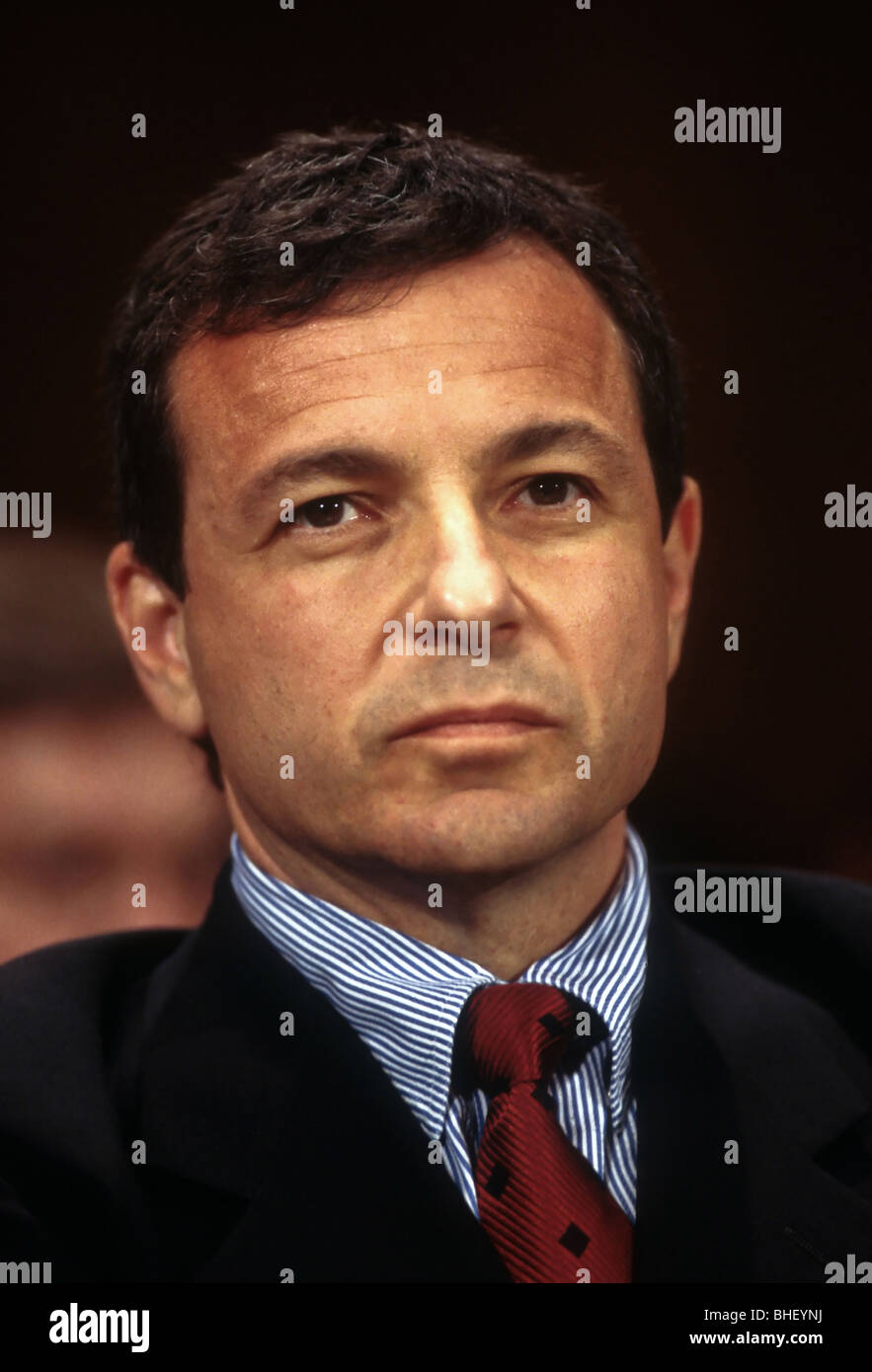 Robert Iger, President of ABC Television testifies in Congress July 7, 1998 in Washington, DC on anti-trust issues Stock Photo