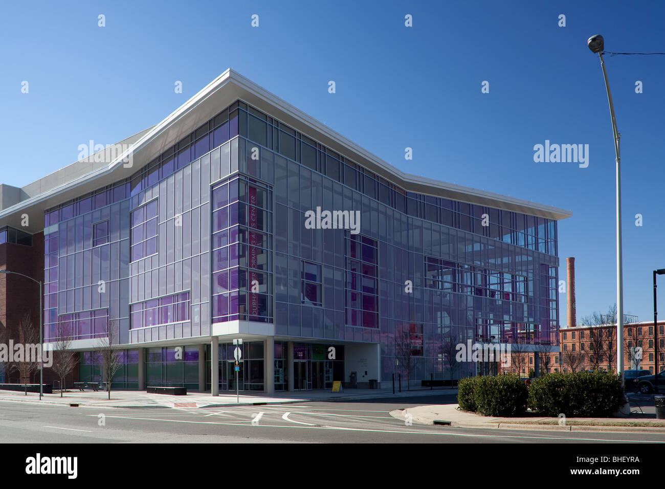 The Durham Performing Arts Center in downtown Durham, North Carolina. - Stock Image