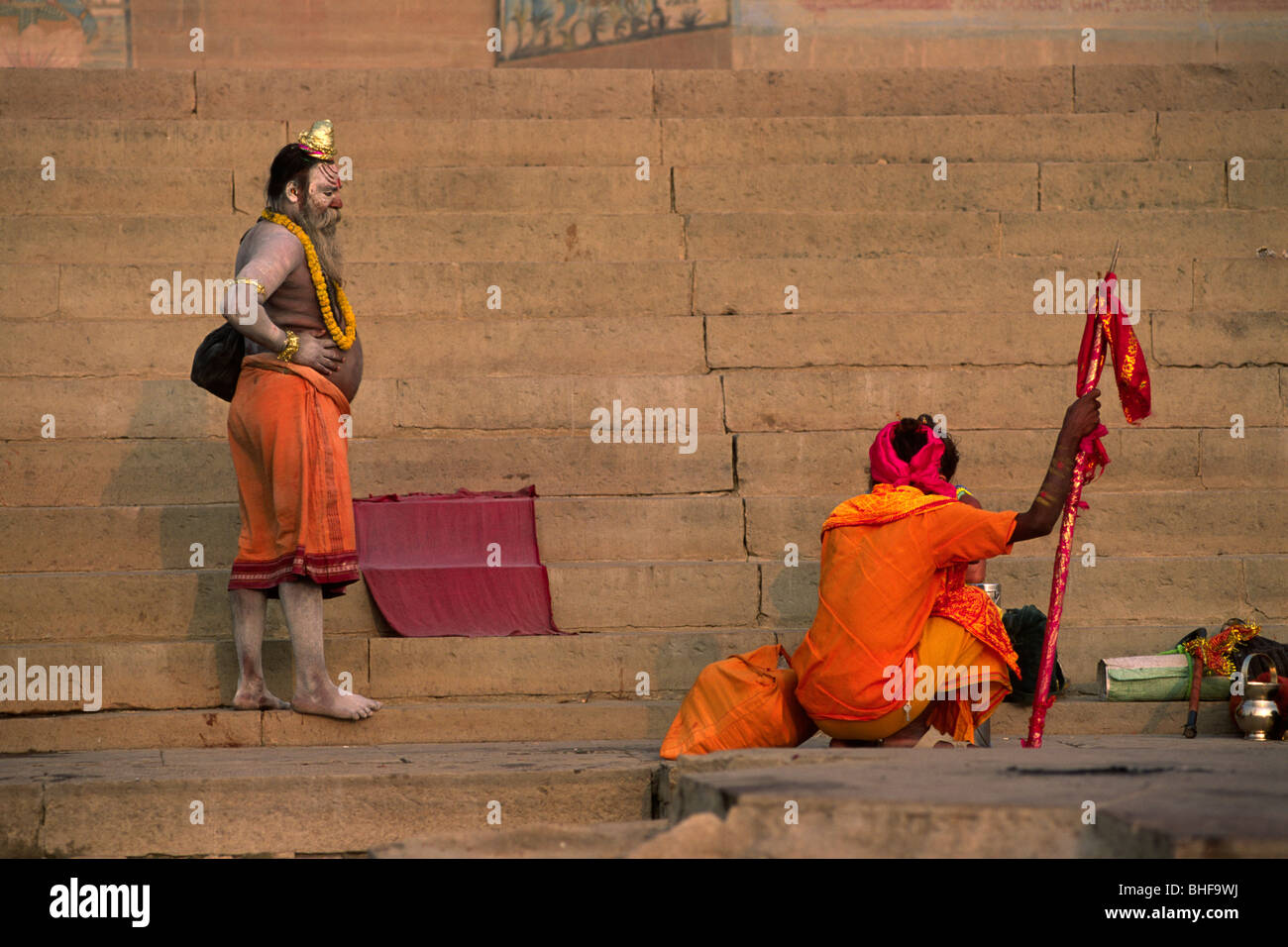 india, varanasi, sadhu - Stock Image