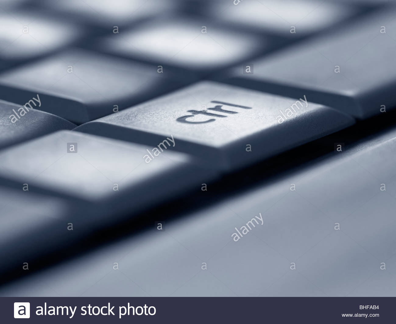 Close up of control key on computer keyboard - Stock Image