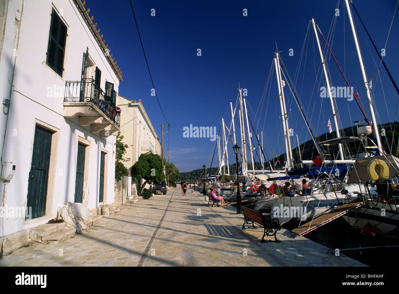 greece, ionian islands, ithaca, kioni port - Stock Image