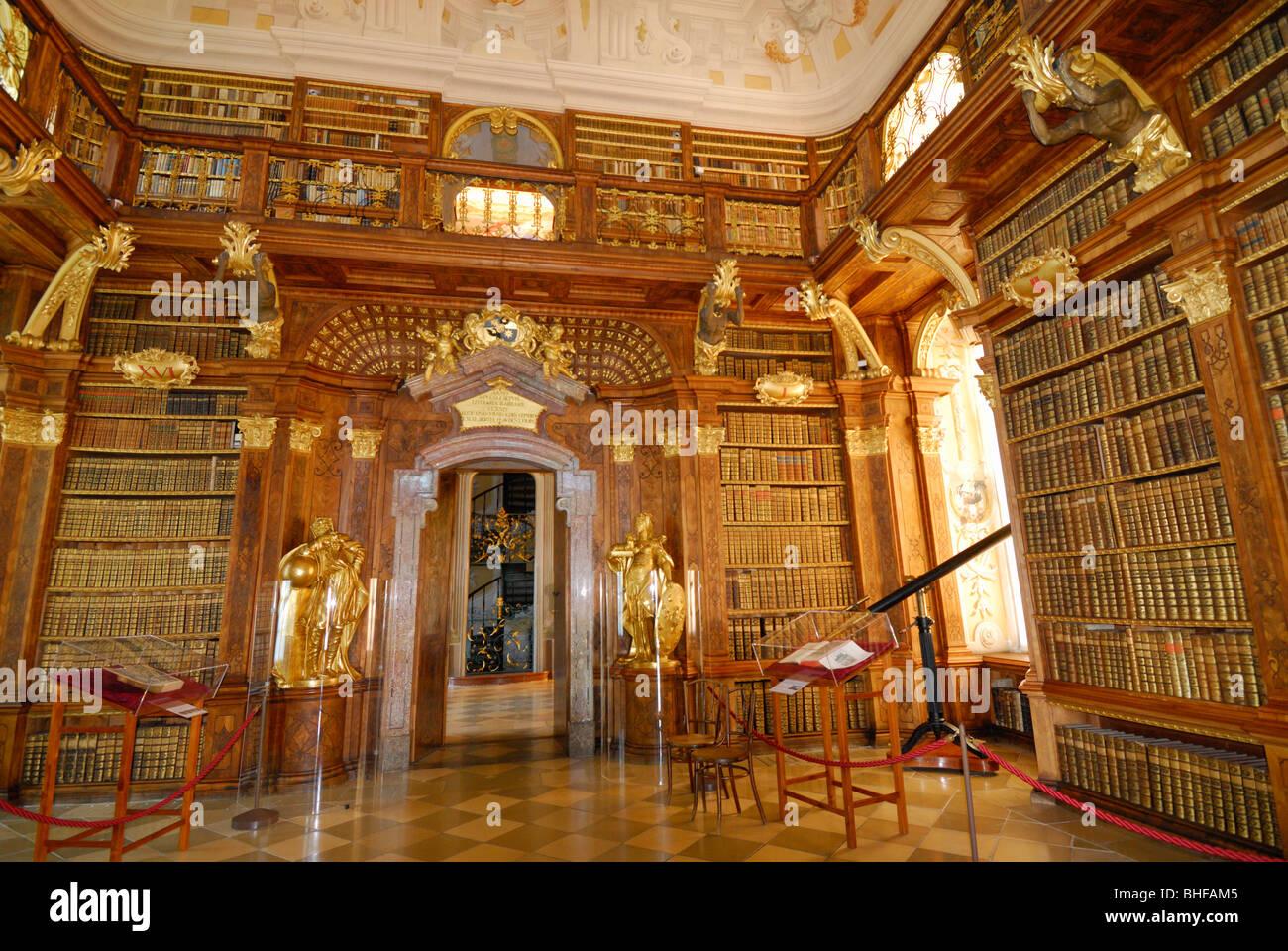 Melk Abbey Library Stock Photos  Melk Abbey Library Stock-3393