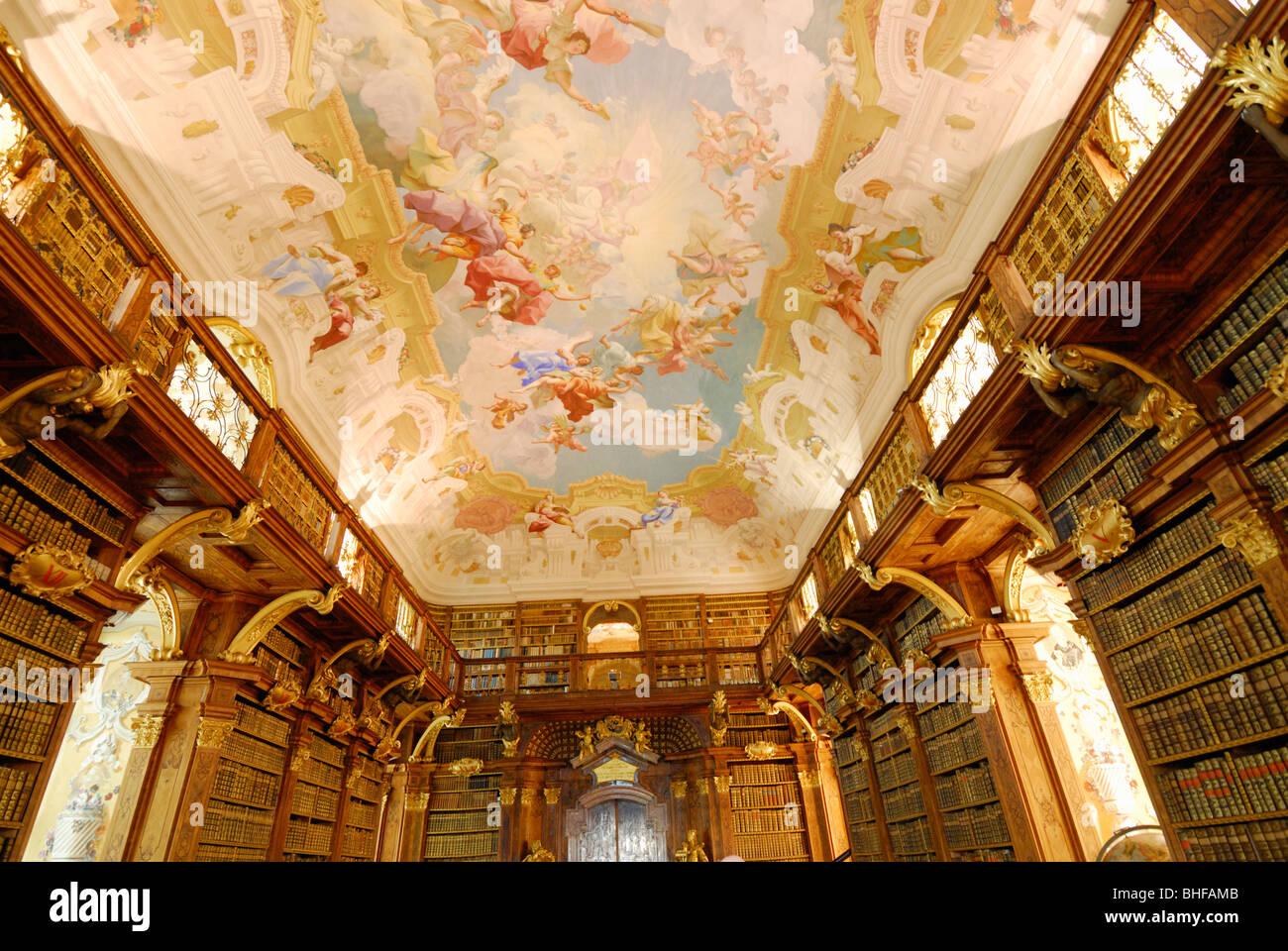 Melk Abbey Library Stock Photos  Melk Abbey Library Stock-5663