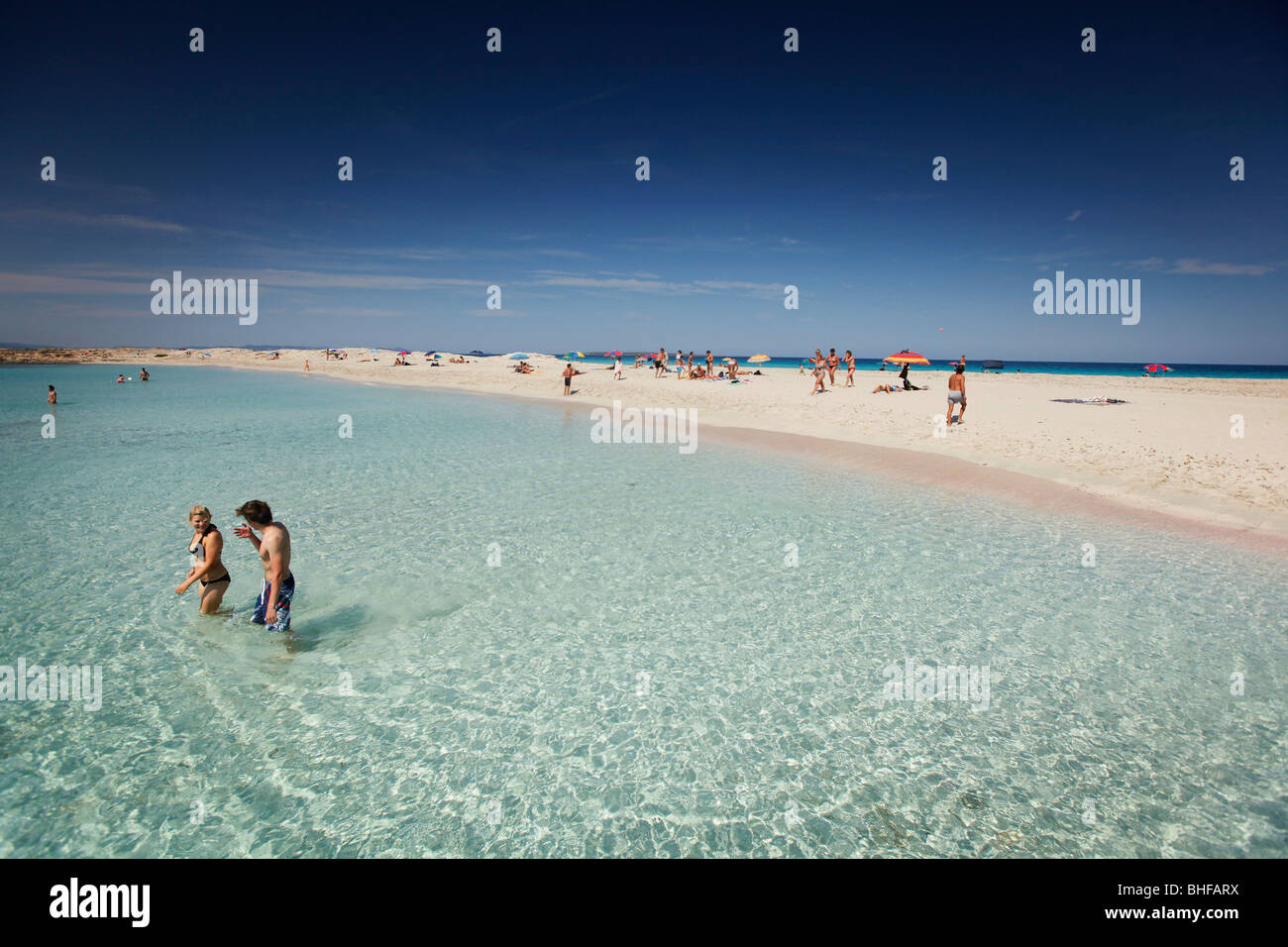 Les Illetes beach, Formentera, Balearic Islands, Spain - Stock Image