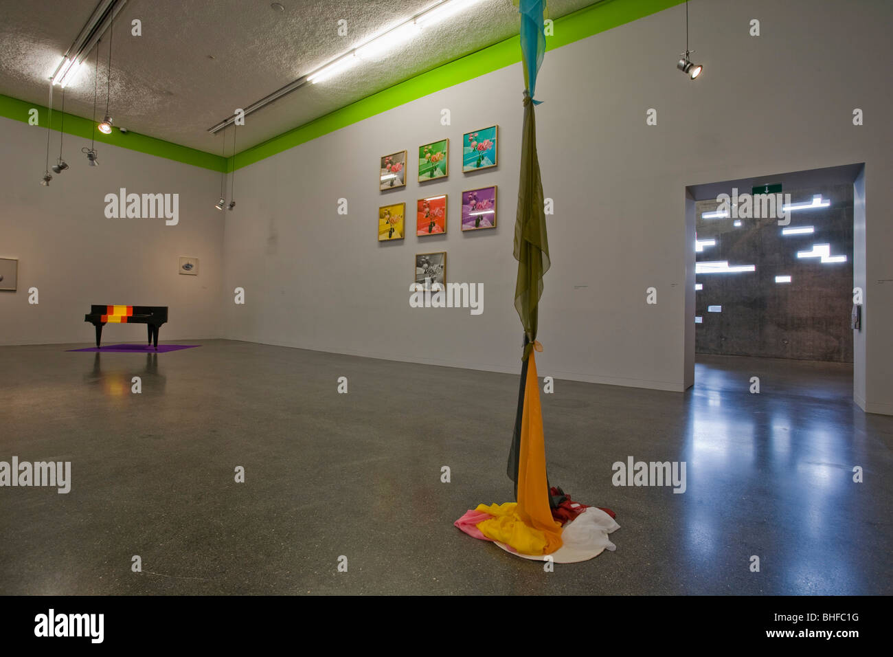 Deserted art exhibition at the museum at the arts centre, Santa Cruz de Tenerife, Tenerife, Canary Islands, Spain, - Stock Image