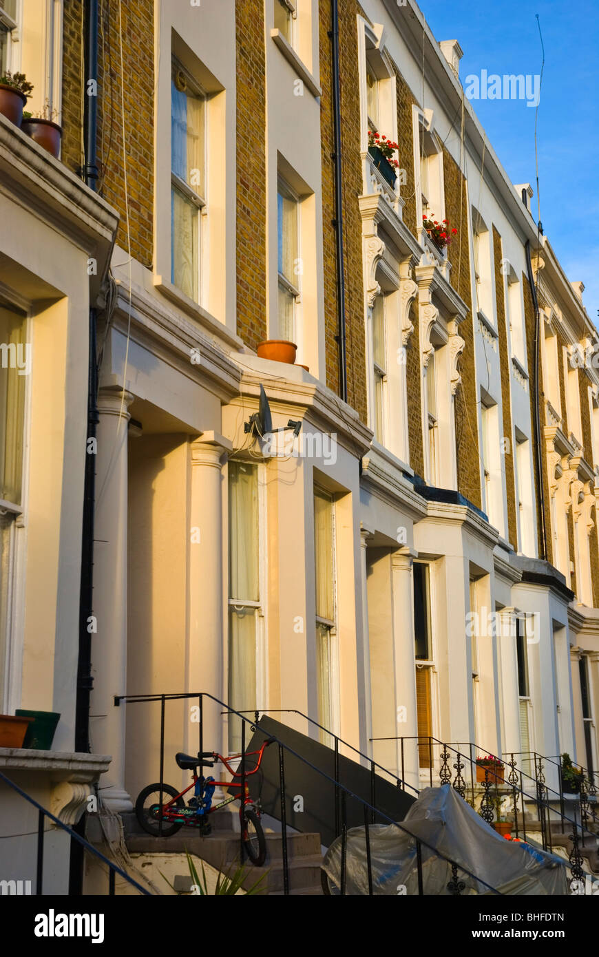 House facade Ladbroke Grove North Kensington London England UK Europe Stock Photo