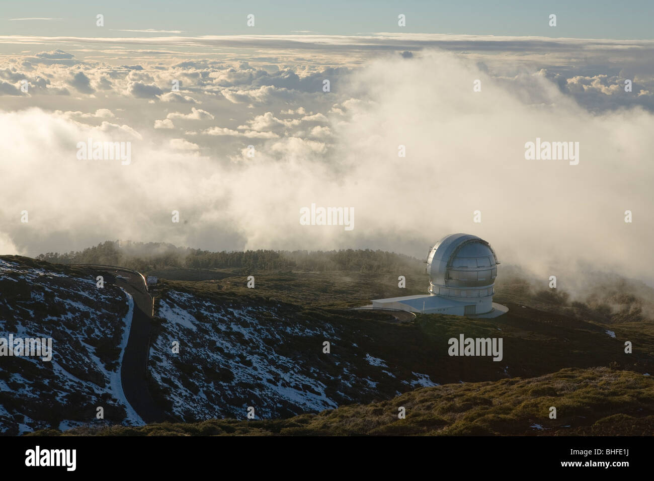 Gran Telescopio Canarias, GranTeCan, GTC, world's largest mirror telescope, Observatorio Astrofisico, astronomy, - Stock Image