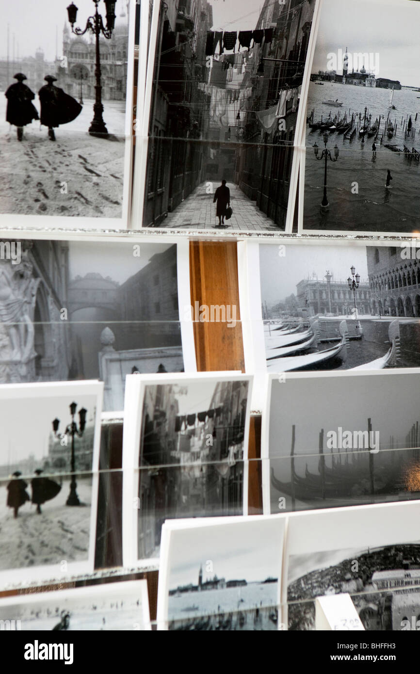 Postcard stand with postcards, Venice, Veneto, Italy, Europe - Stock Image