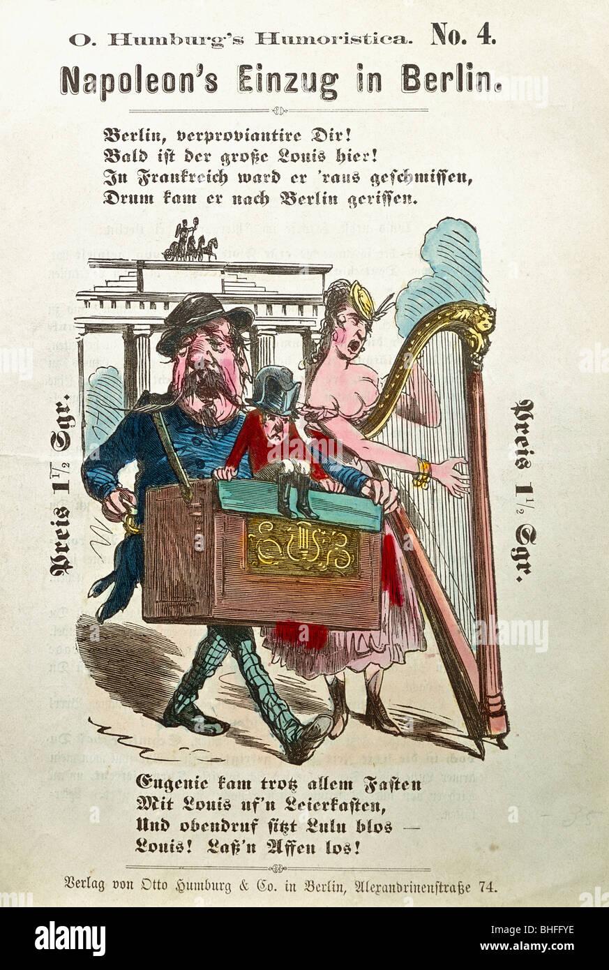 events, Franco-Prussian War 1870 / 1871, satirical leaflet