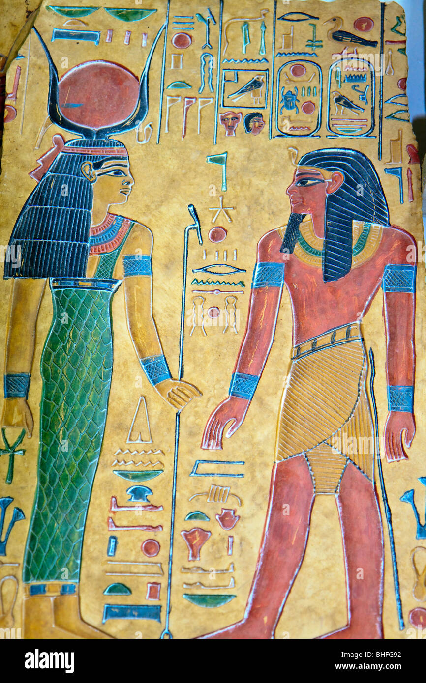 Egypt Luxor Stelae Picture - Stock Image