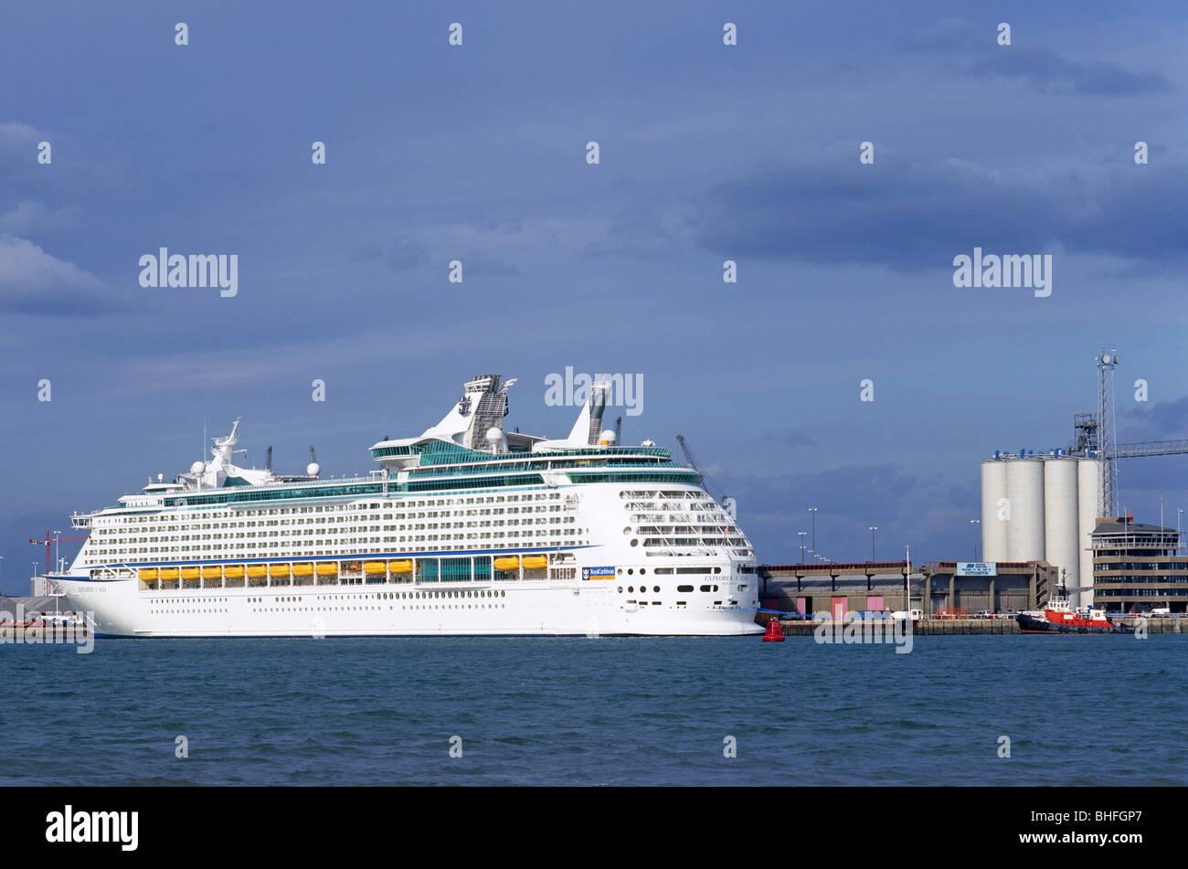 Explorer of the Seas, Royal Caribbean Line ship, Southampton, UK - Stock Image