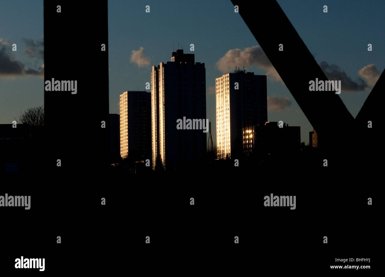 High rise housing in Camden North London UK - Stock Image