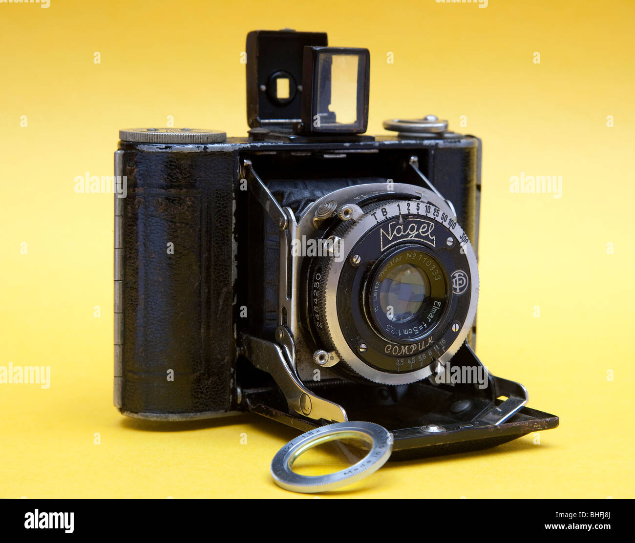 Vollenda Nagel 1920's pocket camera. - Stock Image