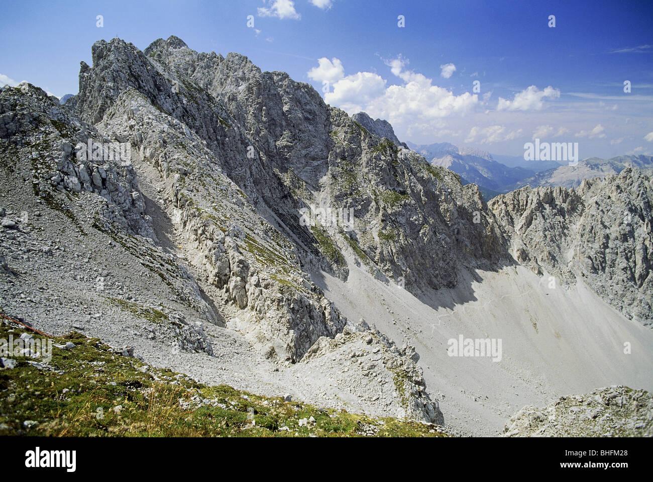 geography / travel, Austria, Tyrol, landscapes, Karwendel mountain range, Hafelekarhaus niveau, Additional-Rights - Stock Image