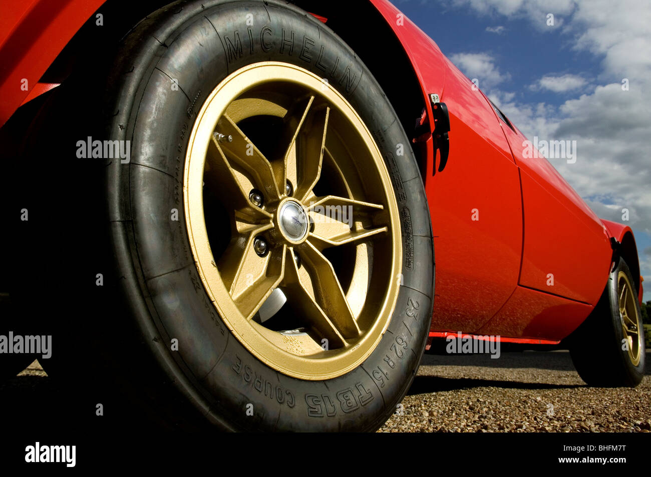Alloy  automobile road wheel . - Stock Image