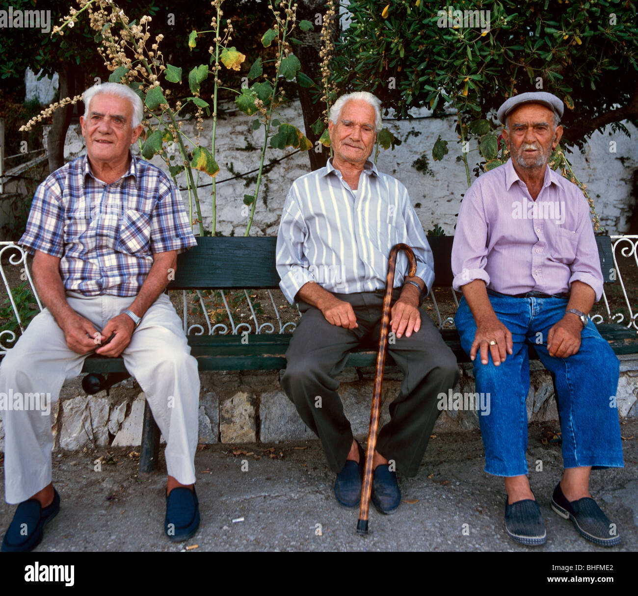 old greek men rhodes greek islands greece hellas stock photo