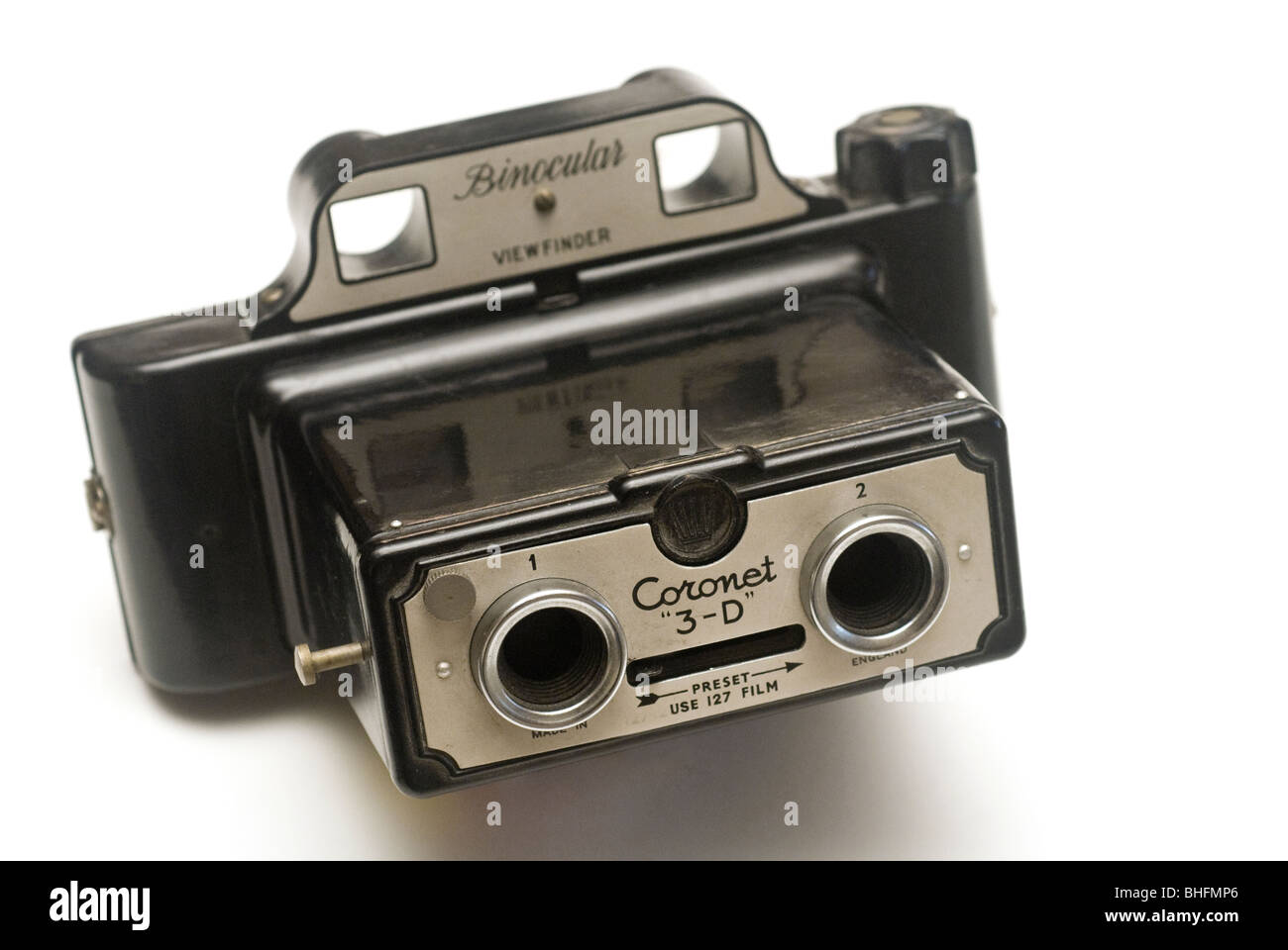 Coronet 3-D made in England camera dating from the early 1950's - Stock Image