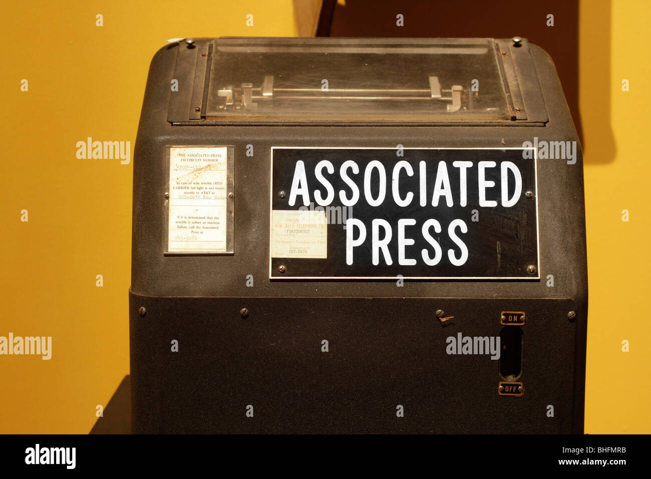 Teletype machine used in newsrooms during much of the 20th century - Stock Image