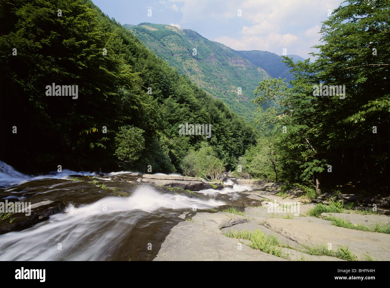geography / travel, Italy, Tuscany, landscapes, Doccione Falls, near Fellicarolo, Additional-Rights-Clearance-Info - Stock Image