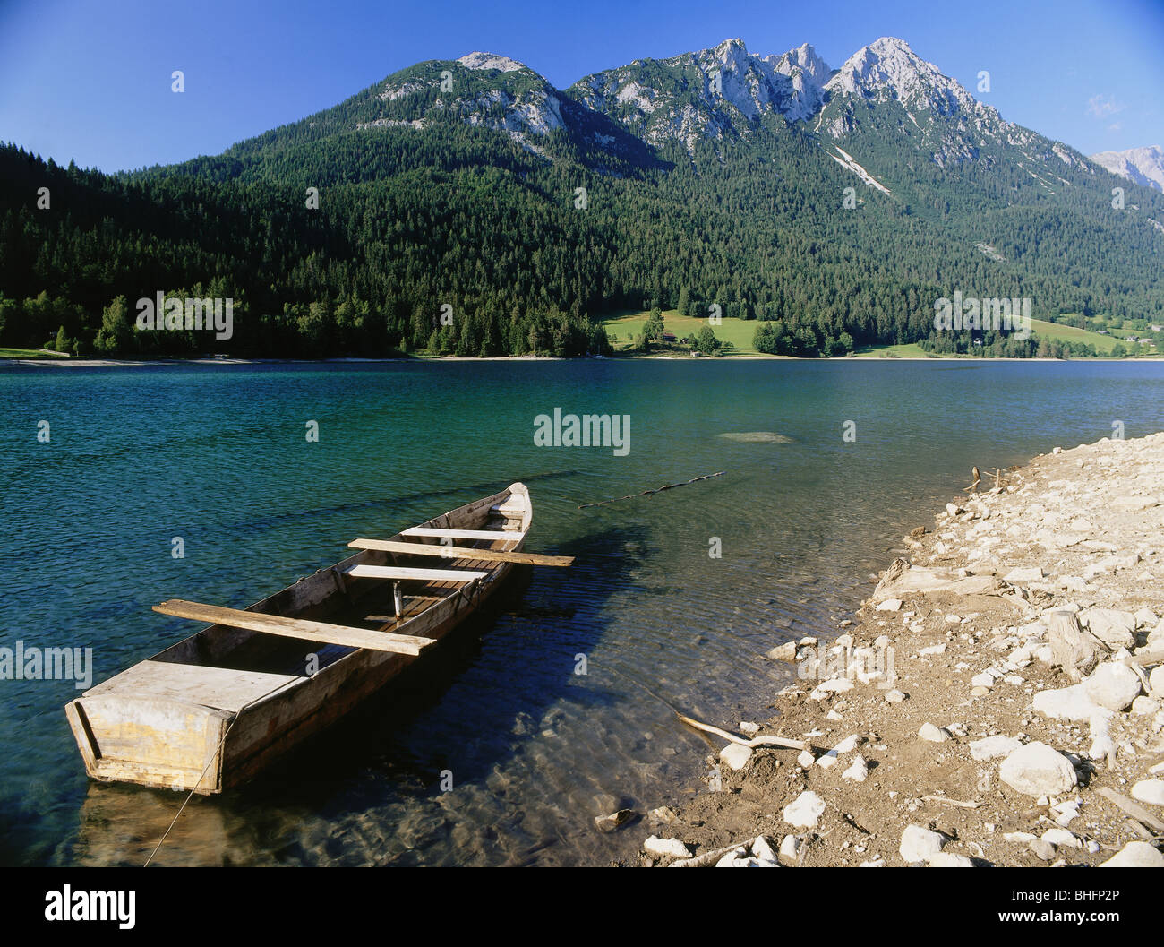 geography / travel, Austria, Tyrol, landscapes, Hintersteiner See, near Scheffau, Additional-Rights-Clearance-Info - Stock Image