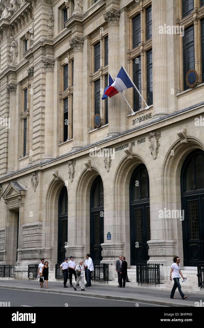 Main Building of the Sorbonne, University of Paris - Stock Image