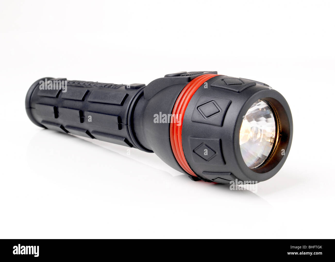 Black Flashlight - Stock Image