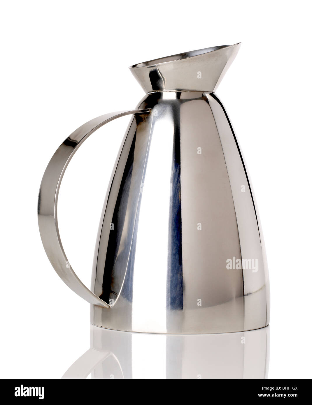 Chrome Water Pitcher - Stock Image