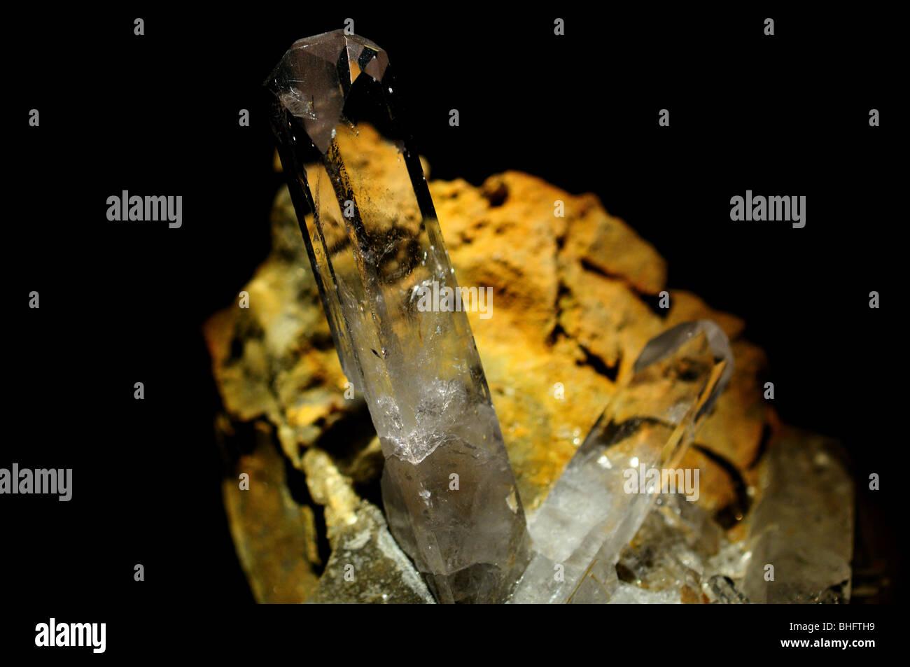 Barite, a barium sulfate mineral, BaSO4. - Stock Image