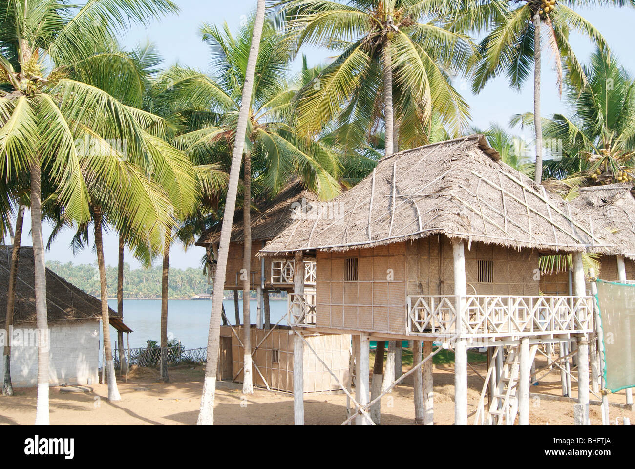 Tourist Hut Made In Kerala By Using Pure Coconut Leaf
